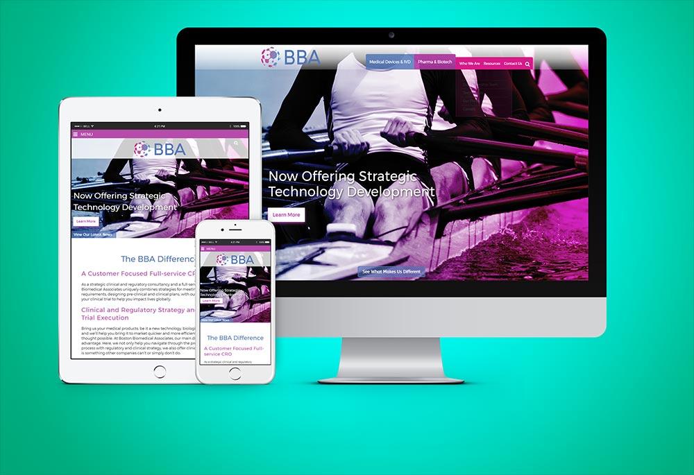 responsive design website screenshots