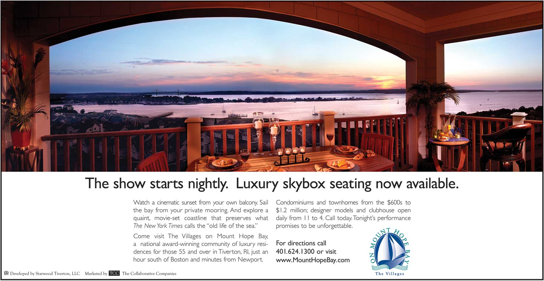 villages on mount hope bay print ad